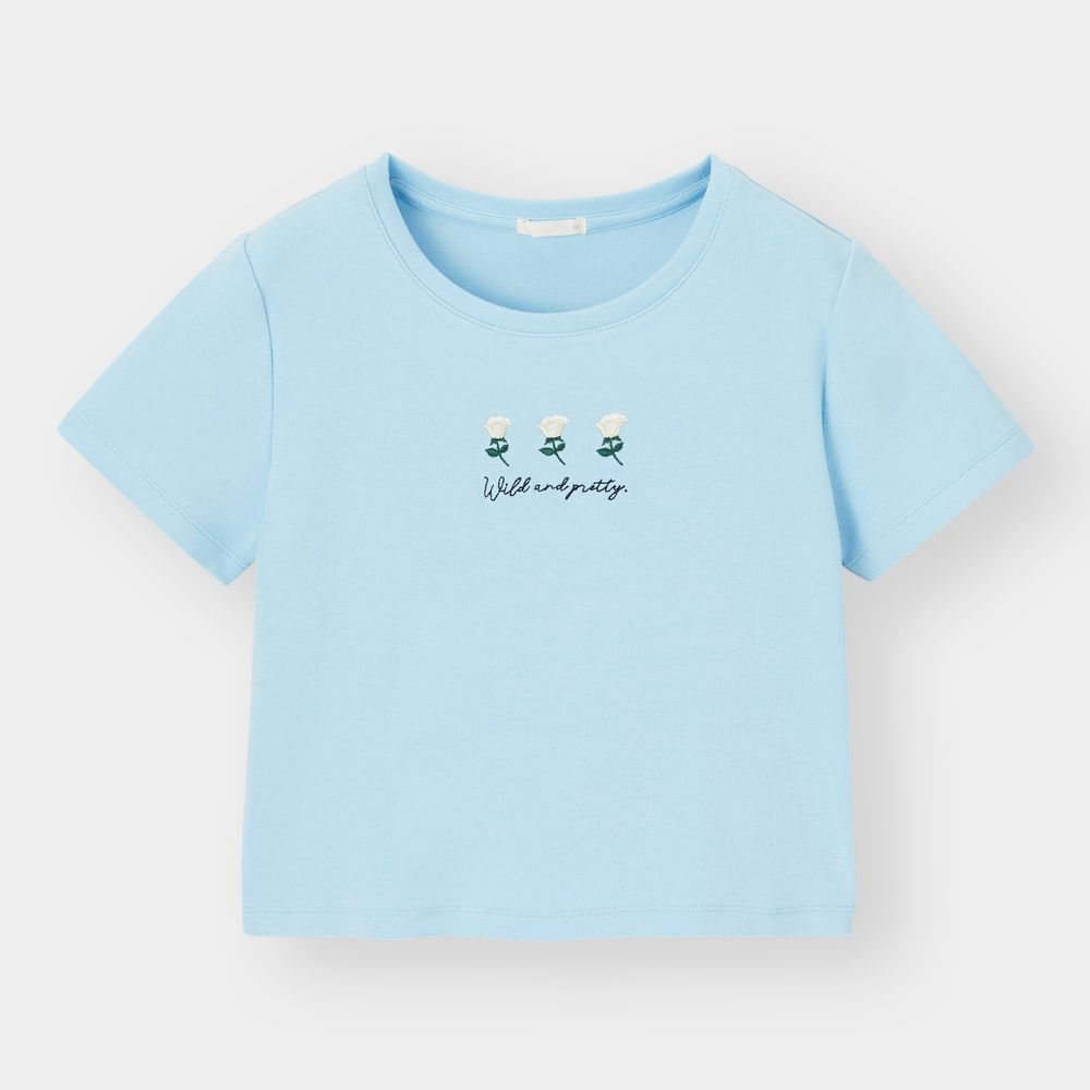 Cropped embroidery T-shirt  原價 $79  | 現售$39